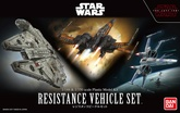 1/144 & 1/350 RESISTENCE VEHICLE SETMODEL KIT BANPRESTO