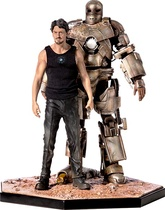 TONY STARK & MARK I MARVEL FIGURA 1 10 DELUXE IRON EXCLUSIVE
