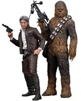 HAN SOLO & CHEWBACCA PACK 2 ESTATUAS 20 Y 23 CM STAR WARS THE FOR