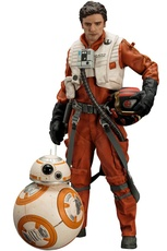 POE DAMERON & BB-8 PACK 2 FIG 18 CM Y 6 CM STAR WARS THE FORCE AW