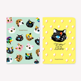 Libretas x 2 12x17 Pocket HAPPIMESS Gatitos