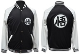 CAMPERA UNIVERSITARIA DRAGON BALL SUPER BLANCA Y NEGRA TALLE M