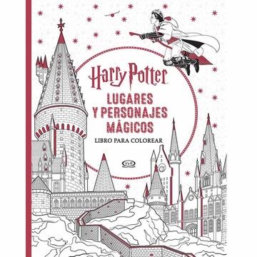 Harry Potter Lugares Y Personajes Magicos Libro Para Colorear