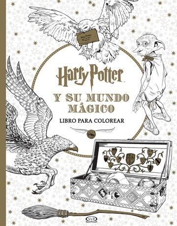 Harry Potter Y Su Mundo Magico Libro Para Colorear La Revistería